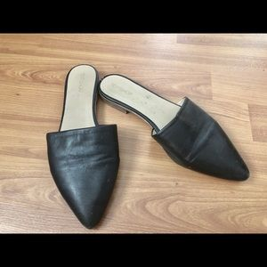 Topshop leather mule style flats